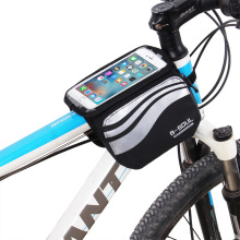 Bicycle Touch Screen Phone Bag MTB Road Bike Frame Mobile Bag Cycling Front Bags 5.7 inch Cellphone Bag Bicycle Accessories