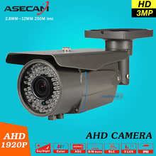3MP Full HD CCTV 1920p Zoom 2.8~12mm Lens Security Varifocal AHD Camera 78* LED Infrared Outdoor Waterproof Bullet Surveillance