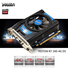 Yeston Radeon R7 240 GPU 4GB GDDR5 128bit Gaming Desktop computer PC Video Graphics Cards support VGA/DVI/HDMI PCI-E X16 3.0