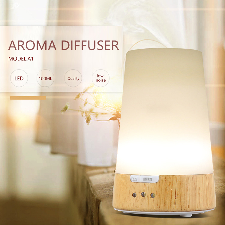 Essential Oil Diffuser 130ML LED Ultrasonic Cool Mist Aroma Air Humidifier USB Air Purifier for Office Home Bedroom Living<br>