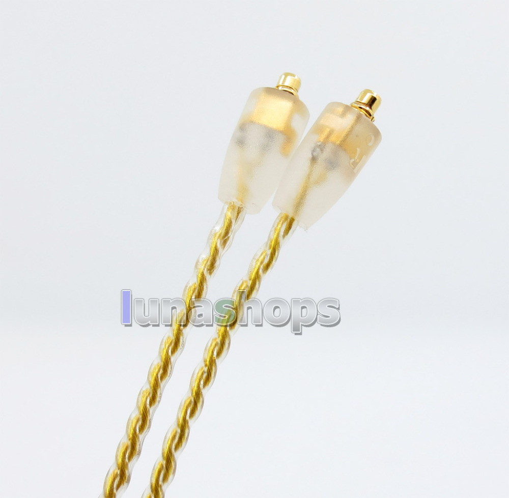 6N OCC Gold Plated MMCX Cable For Shure SE215 SE315 SE425 SE535 SE846 Headphone Earphone ali007 LN005742