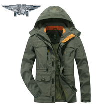 Hot Sale Coats Brand Clothing Plus Size Leisure Men Over Coats Jackets Mens Hoodied Military Style Jackets For Men#086(China)
