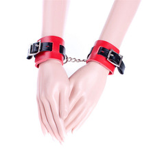 Buy Hand Bondage Sex Products Soft PU Leather Wrist Cuffs Adult Games Slave Restraints Sex Game Hand Cuffs Bdsm Sex Toys Couples