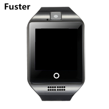 Fuster Original Q18 Smart Watch Bluetooth Smartwatches SIM and SD Card White Black Silver Smart Device Wearable Electronics(China)