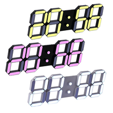 Good Modern Wall Clock Digital LED Table Clock Watches 24 or 12-Hour Display clock mechanism Alarm Desk Alarm Clock(China)