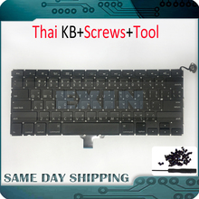 "New OEM Laptop A1278 Thai Keyboard for Macbook Pro 13"" A1278 Keyboard Thai Thailand Version +Screws Set 2009 2010 2011 2012 Year(China)"