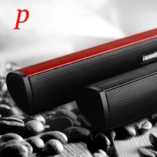 P Portable Stereo 3W 2-Channel Built-In Sound Card Wired Speakers Notebook USB Sound Bar For Laptop PC Computer