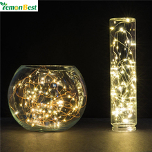 LemonBest 20 Leds 2M String LED Copper Wire Fairy Lights Christmas Lights Indoor for Festival Wedding Party Home Decoration Lamp