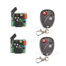 220V 1CH 10A Receiver & Transmitter RF Wireless Remote Switch Momenrary Toggle Latched Adjustable With Jumper 2PCS/LOT(China)