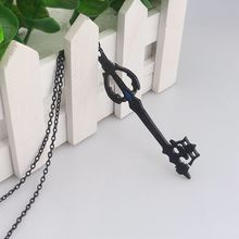 rongji jewelry Hot Game Kingdom Hearts Oblivion Blade Charms Necklace Alloy Jewelry Figure Cosplay for women factory outlet(China)