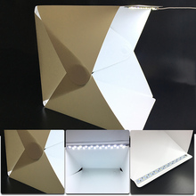 Mini Portable Folding lightbox Photography Photo Studio Softbox Lighting Kit Light box for iPhone Samsang Digital DSLR Camera(China)