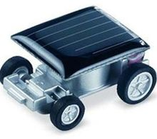Mini Solar Power Car Toy Race - The World's Smallest Educational Gadget Kid Gift Drop Shipping(China)