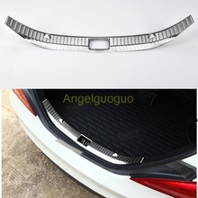 Car Accessories Interior Rear Bumper Protector Trunk Guard Sill Plate Scuff Trim for Mercedes Benz CLA Class CLA200 220 260