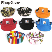 Pet Dog Hat Baseball Hat Summer Canvas Cap For Small Pet Dog Outdoor Accessories Outdoor Hiking Sports(China)