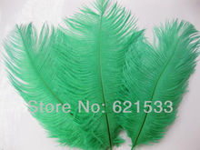 Wholesale!100PCS/lot Deep Green Ostrich Feathers 15-20cm/6-8Inch Ostrich drab feathers Wedding Decoration FREESHIPPING