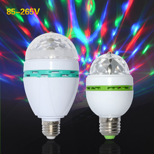 MeeToo 3W 6W AC85-265V New Colourful RGB Led Spotlight Auto Rotating lighting for holiday/KTV/Bar/Disco Led Lamp lighting 1PCS(China)