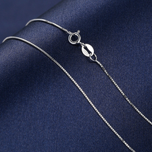 2017 New Fashion Necklace Box Chain Men Women Jewelry 925 Sterling Silver Chains For Wonen Pendant Necklace Wholesale Gift