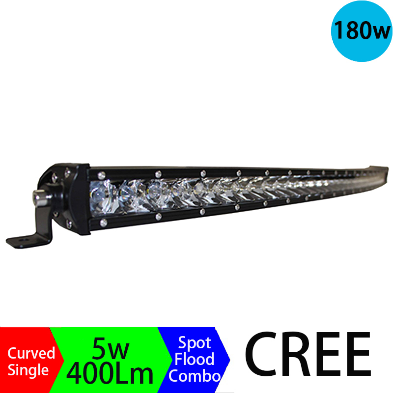 180W 3D Long Distance Super Slim Single Row Curved Work Car Light Bar Offroad Driving Lamp Auto Parts SUV  UTE 4WD ATV Boat<br><br>Aliexpress