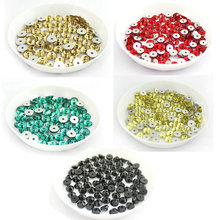 5mm Much Color Glass Material 1440pcs Round Rhinestone Crystal 5mm Sewing stone flat back 1 hole clothing decoration accessories(China)
