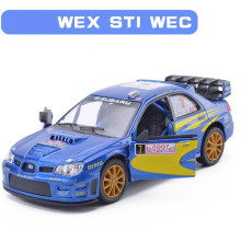 High simulation Subaru WRX STI WRC Racing, 1: 36 scale alloy pull back car model toy, 2 open door toy vehicle, free shipping(China)