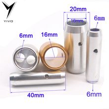 4pcs YIVIO DIY HIFI copper planted gold or sliver Solid Steel Speaker Video Audio Cable Wire Pants Boots coaxial y splitter(China)