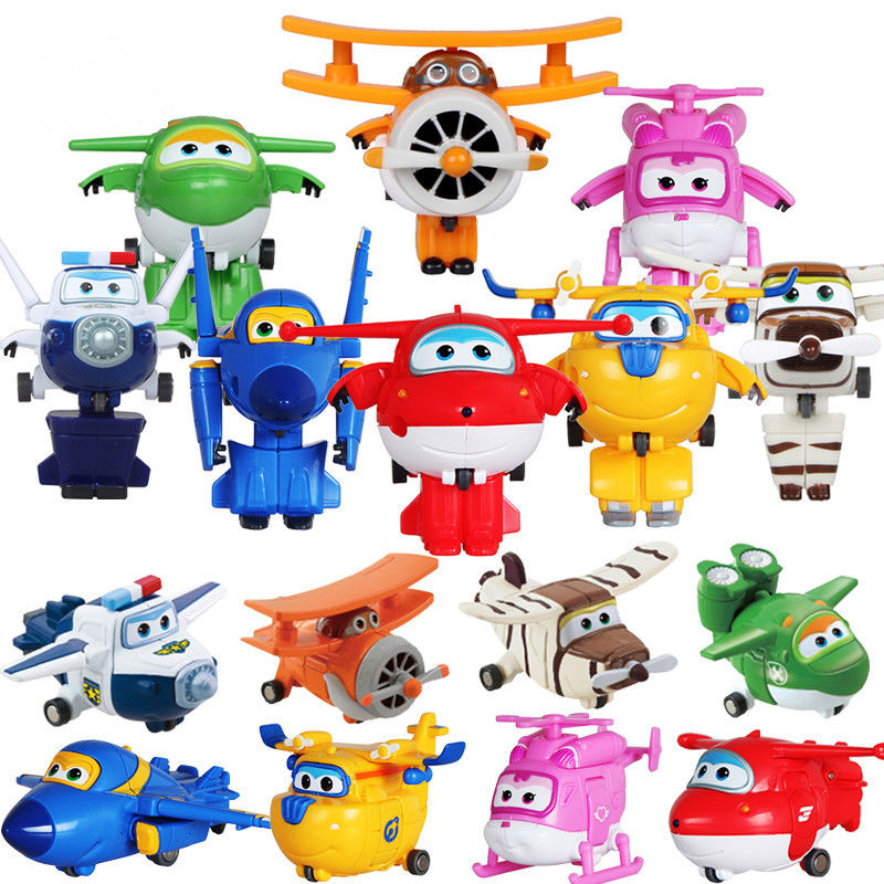 Super Wings Mini Transformation Airplane Robot toys Jett Dizzy Donnie Jerome Bello Big Wing Grand Albert Mira Paul Action Figure Игрушка