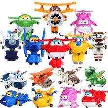 Super Wings Mini Transformation Airplane Robot toys Jett Dizzy Donnie Jerome Bello Big Wing Grand Albert Mira Paul Action Figure