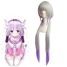 Kobayashi san Chi no Maid Dragon Kanna Kamui Wigs Cosplay Costume Miss Kobayashi's Dragon Maid Women Long Wig Synthetic Hair(China)