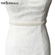 TOPQUEEN S204 pearls Beaded Evening Party Gown Dresses Accessories Wedding Belts Sashes,Bride Waistband Bridal Sashes Belts(China)