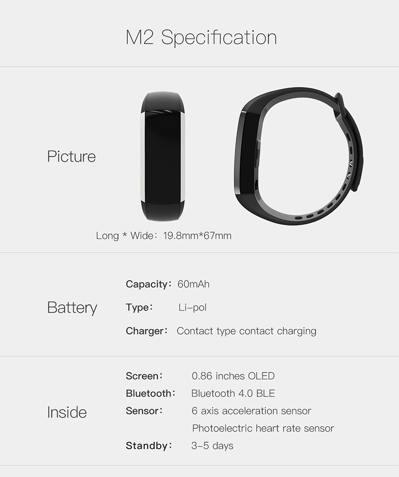 Fitness bracelet Heart Rate Monitor smart bracelet watches blood pressure activity tracker pk for IOS Android mi band 2 fitbit 11