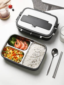 Lunch-Box Microwave Thermal-Food-Container Inner-Portable-Handle Stainless-Steel Kids