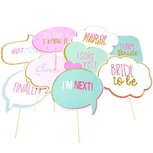 10pcs Photo Booth Photography Props just married Decor birthday accessories Event Party fun favor Supplies Wedding Invitations