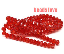 Wholesale Faceted Red Glass Crystal Rondelle Spacer Beads 4 6 8 10 12 14mm Pick Siz For Jewelry Making(F00178)
