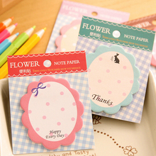 20 Pages/1 sheet kawaii flower heart memo pad paper sticky notes post it notepad stationery papeleria school supplies