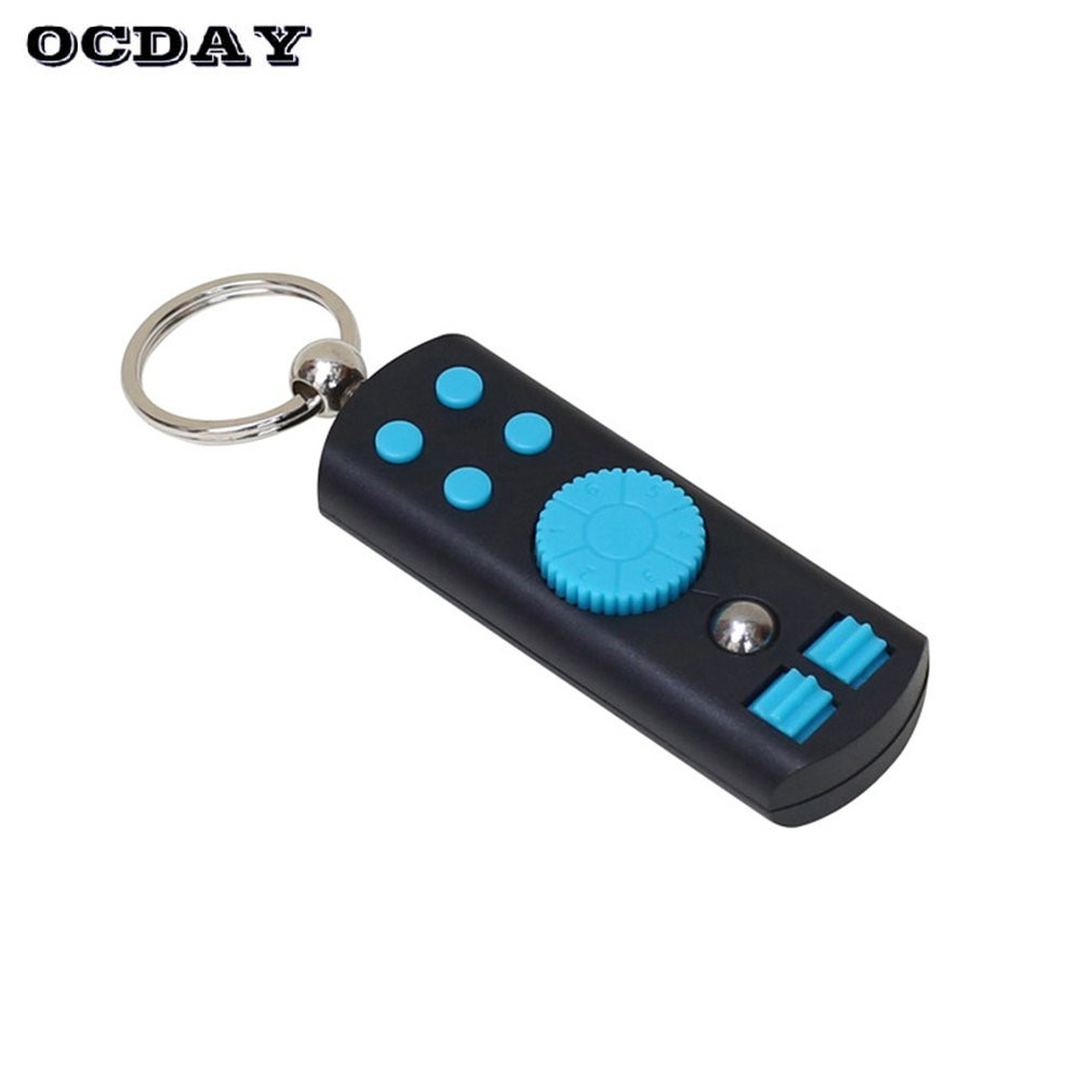 OCDAY Finger Spinner 2 1 Key Rings Hand Spinner Adults Kids Anti Stress Toys ADHD Keychain Gifts Fidget Spinner Portable