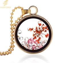 tiger totem Fashion jewelry Necklaces Pendants Hot Fashion Jewelry Glass Perfume Bottle Necklace Flowers Locket  Free shipping