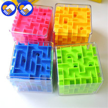 A TOY A DREAM Maze Magic Puzzle Cube 3D Mini Speed Cube Labyrinth Rolling Ball Toys Puzzle Game Cubos Magicos Learning Toys(China)