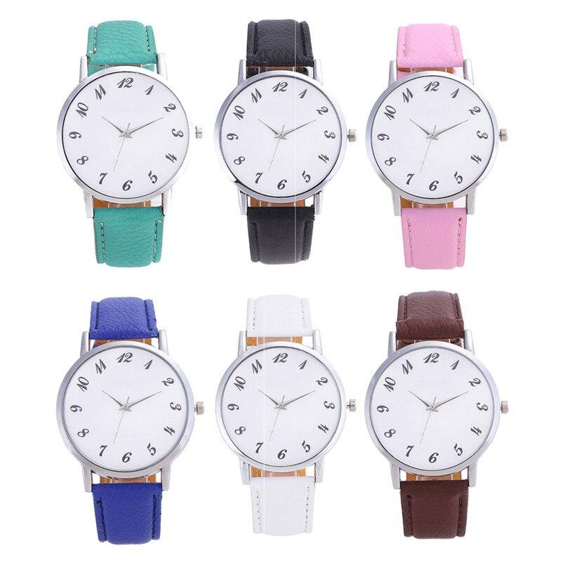 2018 High Quality women fashion casual watch luxury dress Beautiful Fashion Simple Watch Leather band Watch Reloj mujer J06#N (5)