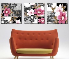 3 Piece Free Shipping Hot Sell Modern Wall Painting  Home Decorative Art Picture Paint on Canvas Prints The sketch daffodils