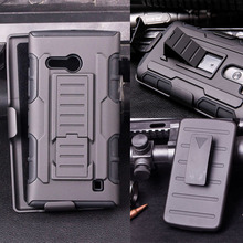 Armor Case For Nokia Lumia 520 435 521 530 640 640XL 710 730 820 830 920 930 950 Holster Hybrid Cell Phone Cases Cover Stand