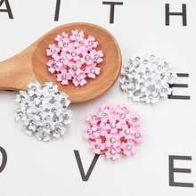 DOWER ME Brand 2pcs 3D Alloy Stickers For Phone Crystal Blooming fireworks DIY Decoration Mobile Phone Decorations(China)