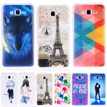 Fashion Personality Painted patterns Soft TPU Back cover For Samsung Galaxy J5 J500 J500F 2015 Cell Phone Protective Case