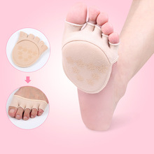 SPA Finger socks plus cotton sweat before the palm of hand half palm full toe toe high heels silicone anti-slip stealth socks(China)