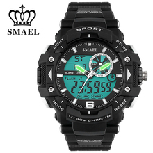 Popular SMAEL Military Watches Men LED Digital Army Sport Watch 30M Waterproof Dive Men's Wrist Watch Best Gift for Male WS1379
