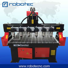 3kw water cooling spindle vacuum table multi heads cnc router for woodworking industry