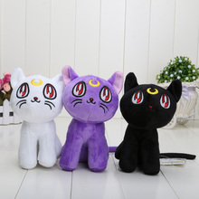 15cm Sailor Moon Lunar Artemis Diana Cat plush doll toy Soft Stuffed Plush Toys Gift Decorations(China)