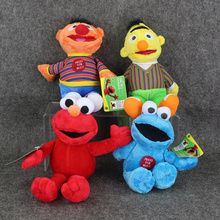 4pcs/lot Sesame Street Elmo Cookie Bert Grover Big Bird Plush Doll Soft stuffed pendant ornament Toy Great Gift free shipping(China)