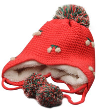MUQGEW Winter Baby Earflap Girl Boy Peach Children Hat Knit Hat Cold Cap Warm BABY WINTER HAT baby cap(China)