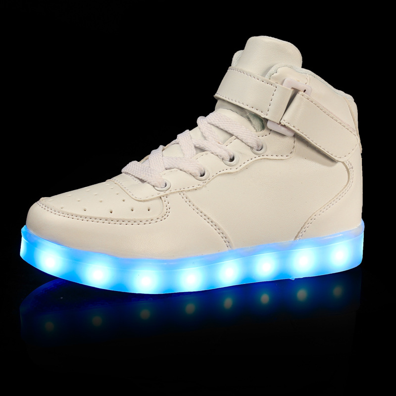 Boys Girls Fashion Light Up Casual Shoes Kids 7 Colors Outdoor New Simulation Sole Glowing Children Sneaker Led Luminous Shoes<br>