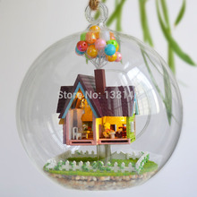 B006 flying house diy doll house in Glass ball dollhouse(China)